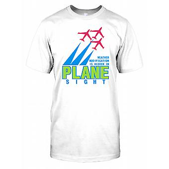Weather Modification is Hidden in Plane Sight - Conspiracy Mens T Shirt