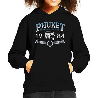 Phuket 1984 Middle School Kid's Hooded Sweatshirt