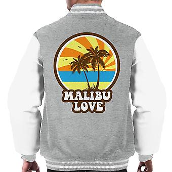 Malibu Love Retro Sunset Men's Varsity Jacket