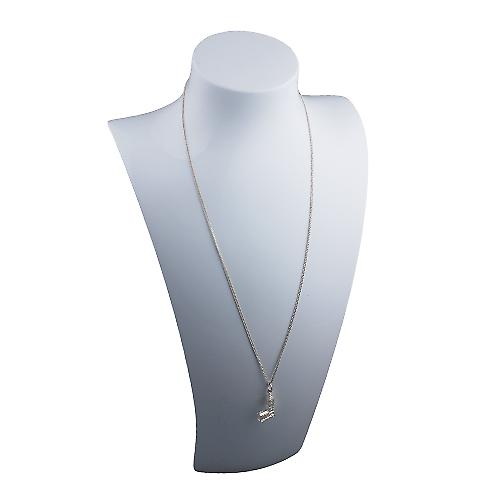 Silver 20x11mm Big Ben Pendant with a Curb Chain 20 inches