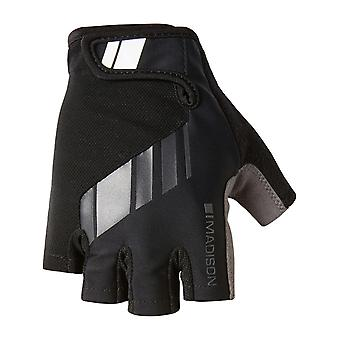 Madison Black 2018 Peloton Fingerless Cycling Gloves
