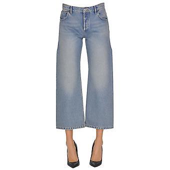 Balenciaga Blue Cotton Jeans