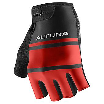 Altura Team Red-Black Airstream 2 Fingerless Cycling Gloves
