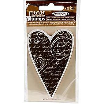 Stamperia Natural Rubber Stamp Heart (WTKCC07)