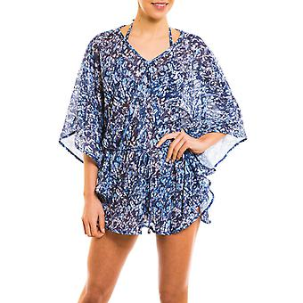 Kiniki Oceana Tan Through Beach Poncho Womens Swimwear