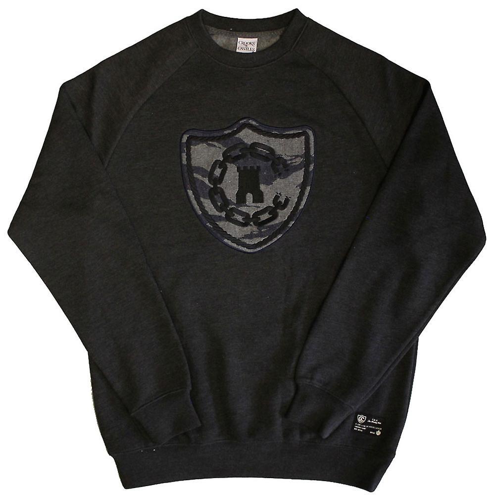 Escrocs & Châteaux Tiger Camo Denim Sweatshirt noir