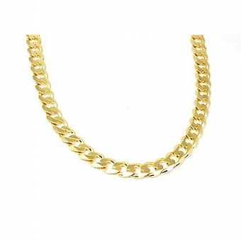 Toc 18 Inch Gold Plate on Sterling Silver Gents 58.6 Gram Curb Necklace