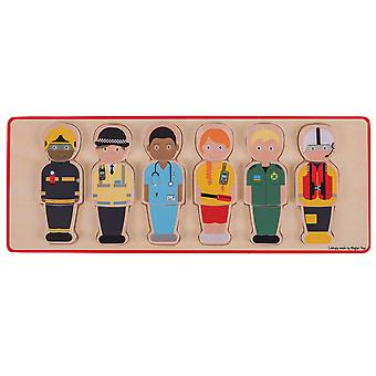 Bigjigs Toys Wooden People Who Help Us Jigsaw Puzzle