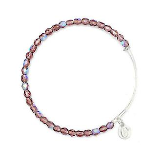 Alex en Ani Amethist Rock Candy kralen Zilveren Bangle BBEB178S