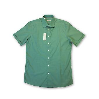 Eton Contemporary shirt in green gingham check