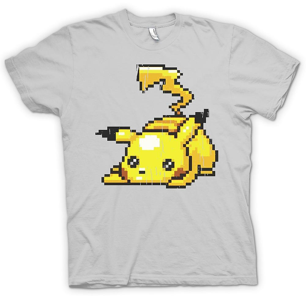 Mens T-shirt - Pikachu - Pokeman Pixel Gamer