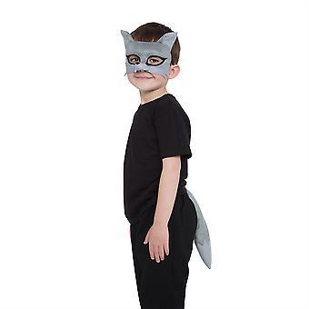 Wolf Set (Maske + Schwanz)