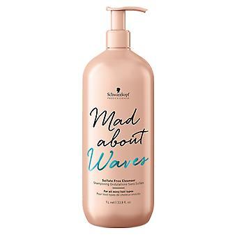Schwarzkopf Mad About Waves sulfate free Shampoo 1000ml