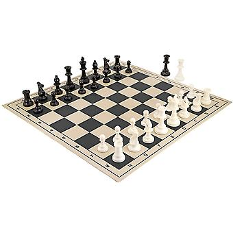 School Tournament Folding Chess Set Black