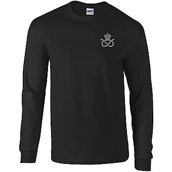 STAFFS.PNG - Licensed British Army Embroidered Long Sleeved T-Shirt