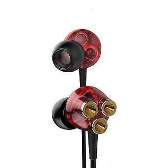 6 drivers dinâmicos 3.5 mm Jack in-Ear fone de ouvido com fio pesado Bass Stereo Headphone com microfone