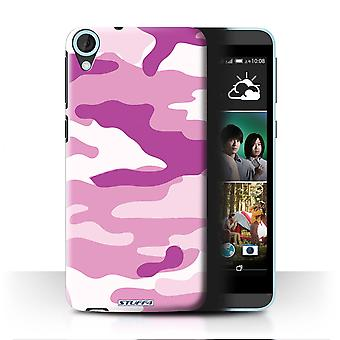 STUFF4/Housse pour HTC Desire 820/Rose 2/Camouflage Army Navy