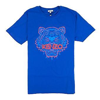 Kenzo Zweifarbiges Tiger T-shirt Blau