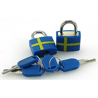 Hængelås Sverige 2-Pak