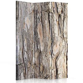 Room Divider, 3 Panels, Single-Sided, Canvas, Tree Bark