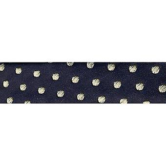Novelty Fashion Bias 20Mm X 22 Yards Navy with Cream Dots 1782 23