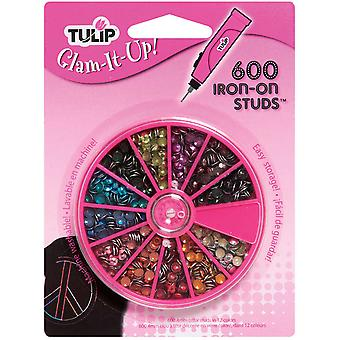 Tulip Glam It Up! Iron On Crystals 12Mm 600 Pkg Assorted Colors 26720Vp