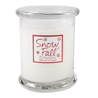 Lily vlam geurende kaars in decoratieve pot - Snow Fall
