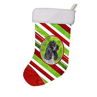 Black Cocker Spaniel Candy Cane Christmas Christmas Stocking