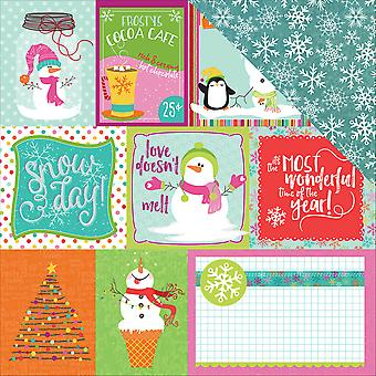 Snowball Fight Double-Sided Cardstock 12