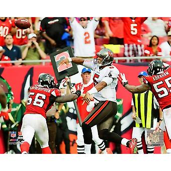Josh Freeman 2011 Action Photo Print
