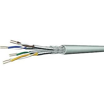 Network cable CAT 7 S/FTP 4 x 2 x 0.13 mm² Blue DRAKA 1001133-00100RW Sold per metre