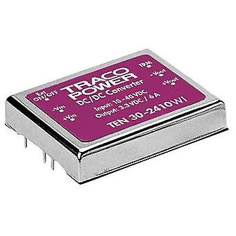DC/DC converter (print) TracoPower TEN 30-4812WI 48 Vdc 12 Vdc 2.5 A 30 W No. of outputs: 1 x