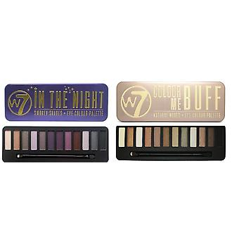 W7 Eyeshadow Palettes- (Colour Me Buff' + In the Night)