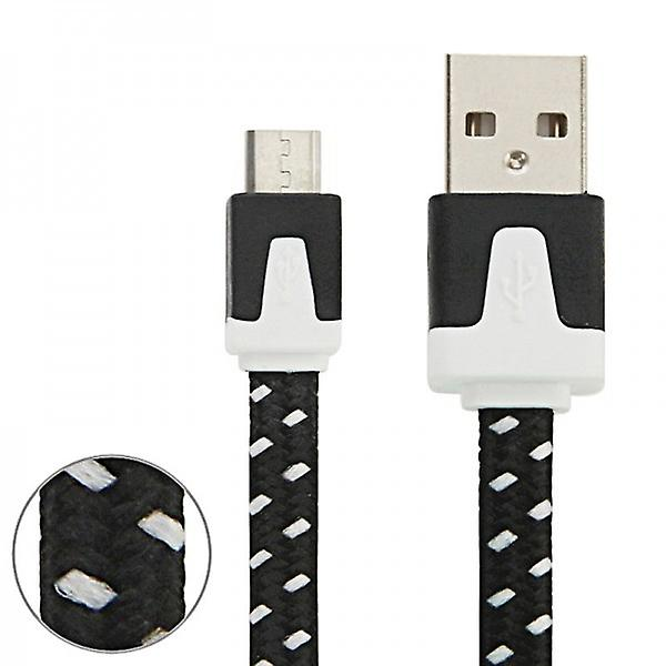 1m USB data and charging cable black for all Smartphone and Tablet micro USB