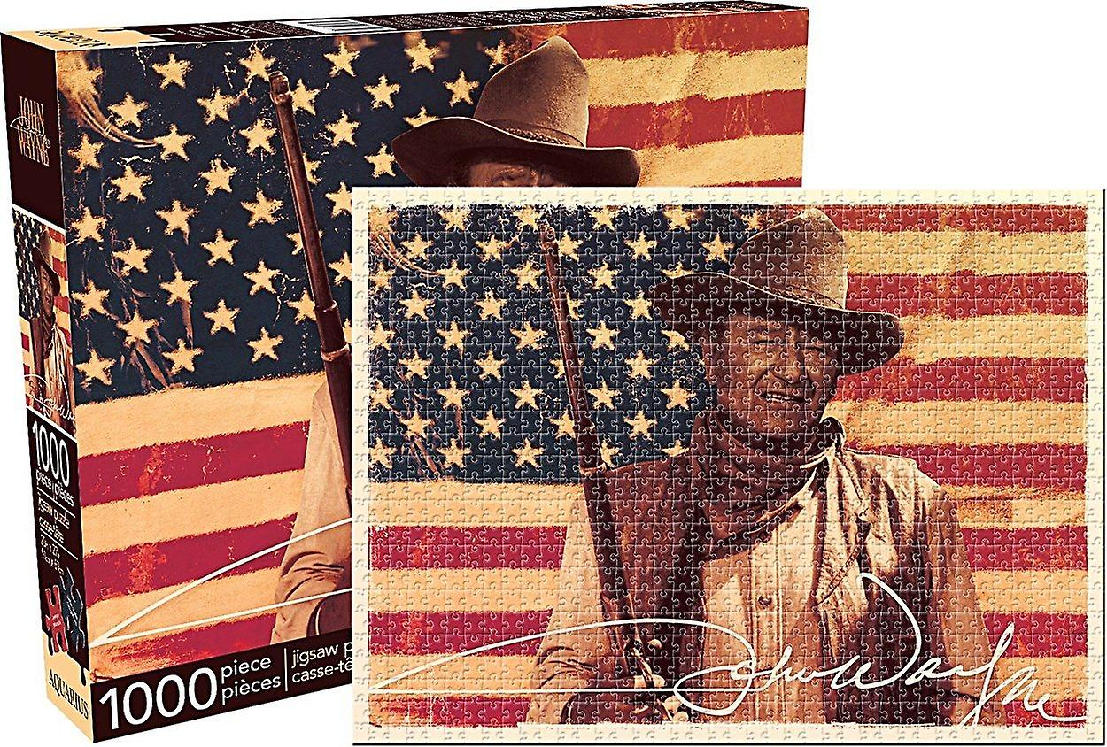 John Wayne Flag 1000 piece jigsaw puzzle  690mm x 510mm    (nm)