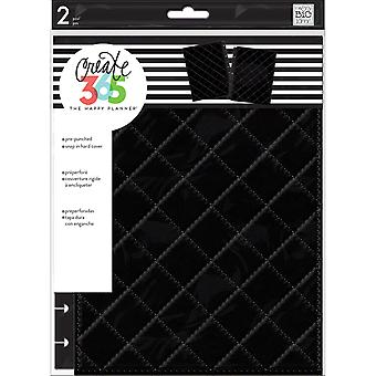 Create 365 Classic Snap-In Hard Cover Planner-Quilted Night Black COLC-5