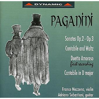 N. Paganini - Paganini: Sonater Op. 2, Op. 3; Cantabile og vals; Duetto Amoros; Cantabile i D-dur [CD] USA import