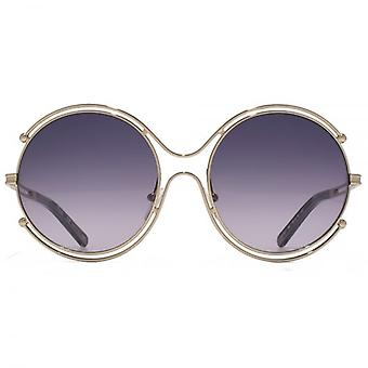 Chloe Isadora Round Sunglasses In Gold Grey