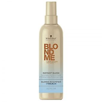 Schwarzkopf BlondMe Instant Blush Temporary Hair Colour - Steelblue