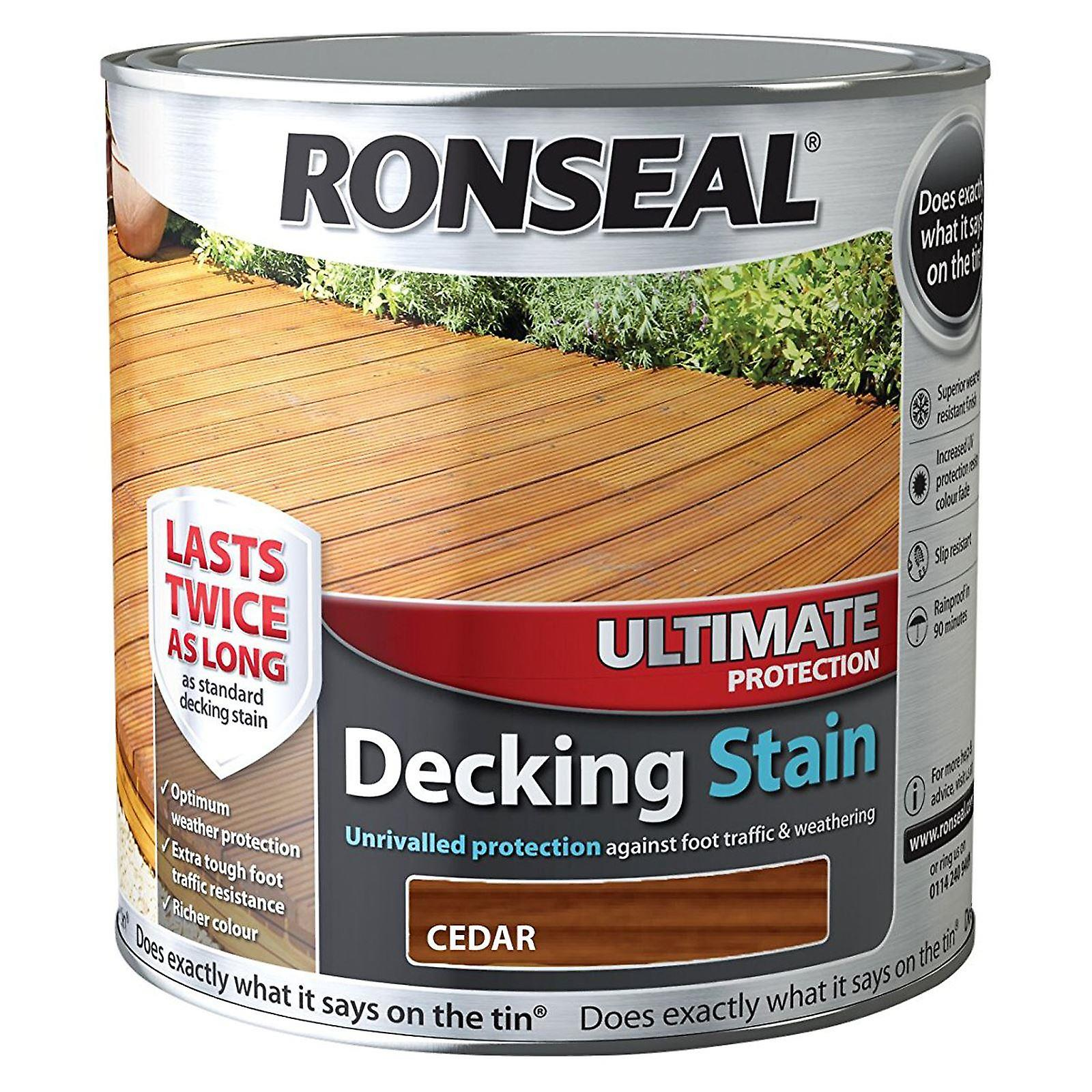 Ronseal 2.5 Litre Ultimate Protection Decking Stain - Cedar