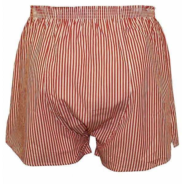 Jockey Striped Woven Boxer Shorts, Red/White