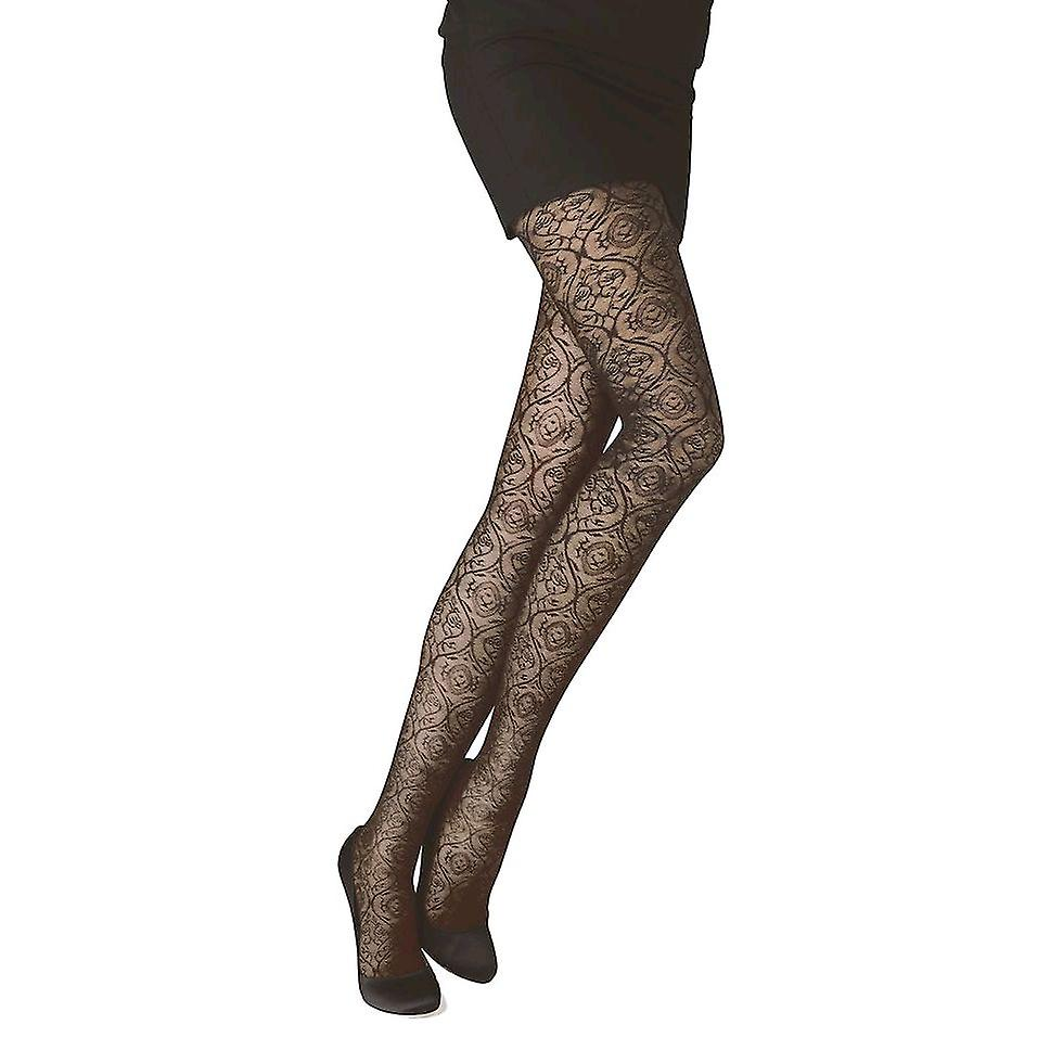 Solidea Chantal 70 Lace Support Tights [Style 50070] Nero (Black)  S