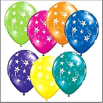 """Balloons Shooting Stars Assorted Colours 12"""" Bag Of 25"""