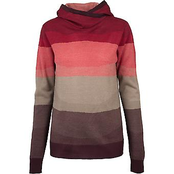 Urban classics ladies - multicolored high neck Hoody Red