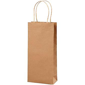 10 Tall Natural Brown Kraft Paper Bottle Bags | Gift Wrap | Bottle Bags & Boxes