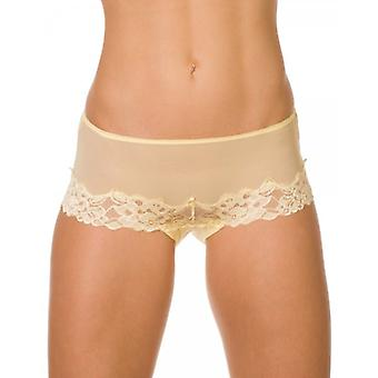 Camille Lemon Sheer Lace Womens Boxer Shorts