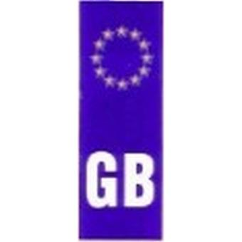 W4 Euro Plate GB Sticker