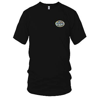 US Navy USSVI Cyberspace Base Embroidered Patch - Ladies T Shirt