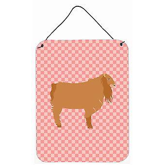 Amerykański Lamancha koza wyboru różowe ściany lub drzwi wiszące drukuje
