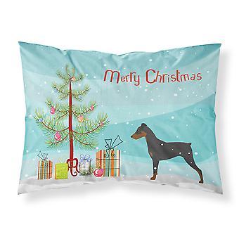 German Pinscher Merry Christmas Tree Fabric Standard Pillowcase